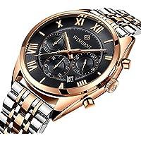 Mens Watches Top Brand Luxury Full Steel Clock Sport Quartz Watch Men Casual Business Waterproof Watch Relogio Masculino