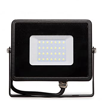 Foco Proyector LED 50W Luz Càlida Negro Superslim Dimmable ...