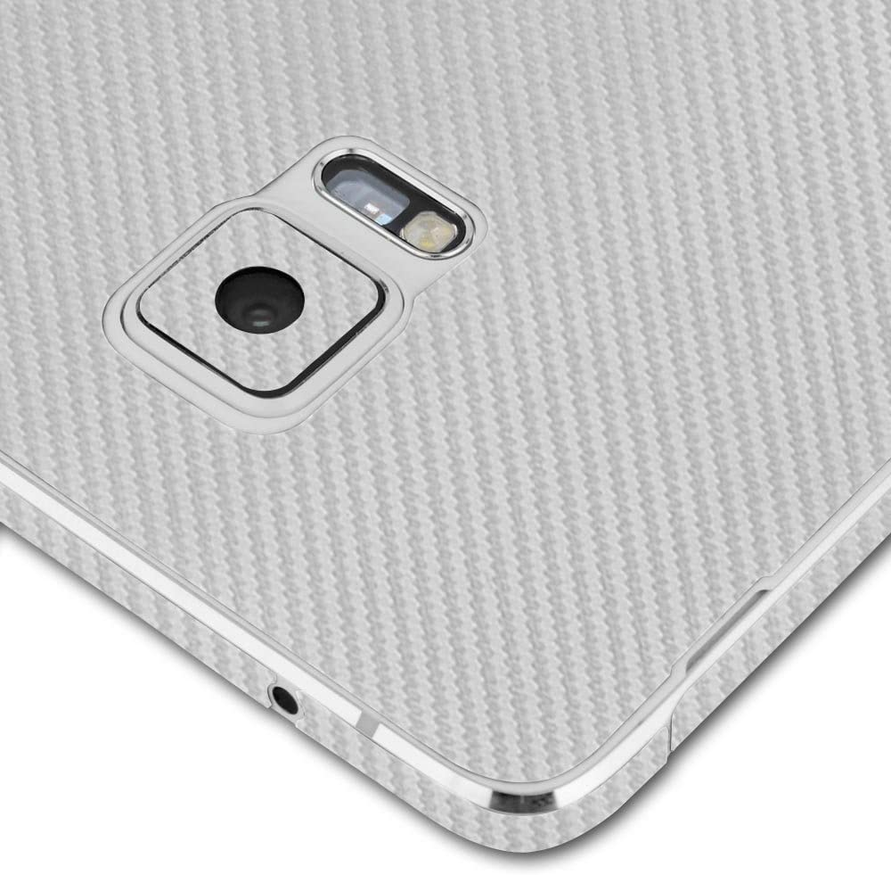 Full Coverage TechSkin with Anti-Bubble Clear Film Screen Protector Skinomi Silver Carbon Fiber Full Body Skin Compatible with Samsung Convoy 4