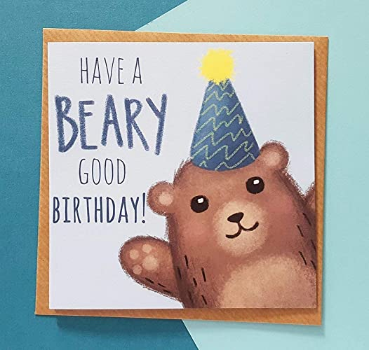 Bear Birthday Card For Dad Husband Son Brother Cards