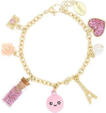 Amazon.com: Claires - Pulsera de oro para niña, diseño de ...