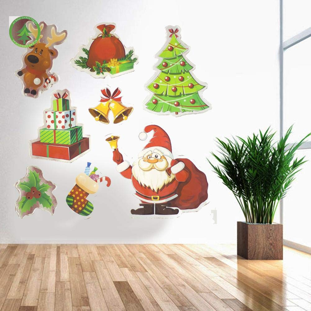 Biback Christmas Decoration Santa Claus Christmas Tree Stickers Decoration by Biback (Image #3)