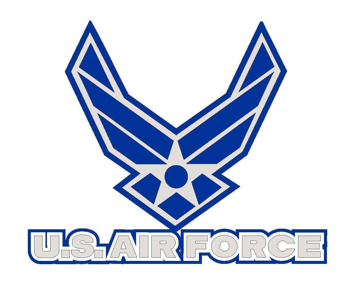 Air Force Logo Magnet Uniformed Scrapbooks of America AIRLOGO-02 Uniformed Scrapbooks U.S