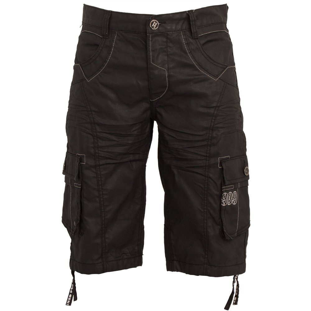 Ze Enzo New Mens ENZO Cargo Combat Coated Casual Shorts All Waist Sizes