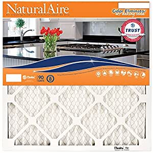 NaturalAire Odor Eliminator Air Filter with Baking Soda, MERV 8, 14 x 25 x 1-Inch, 4-Pack