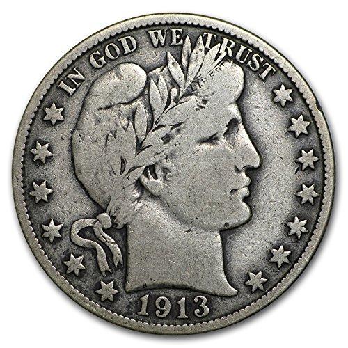 1913 S Barber Half Dollar Fine Half Dollar Fine
