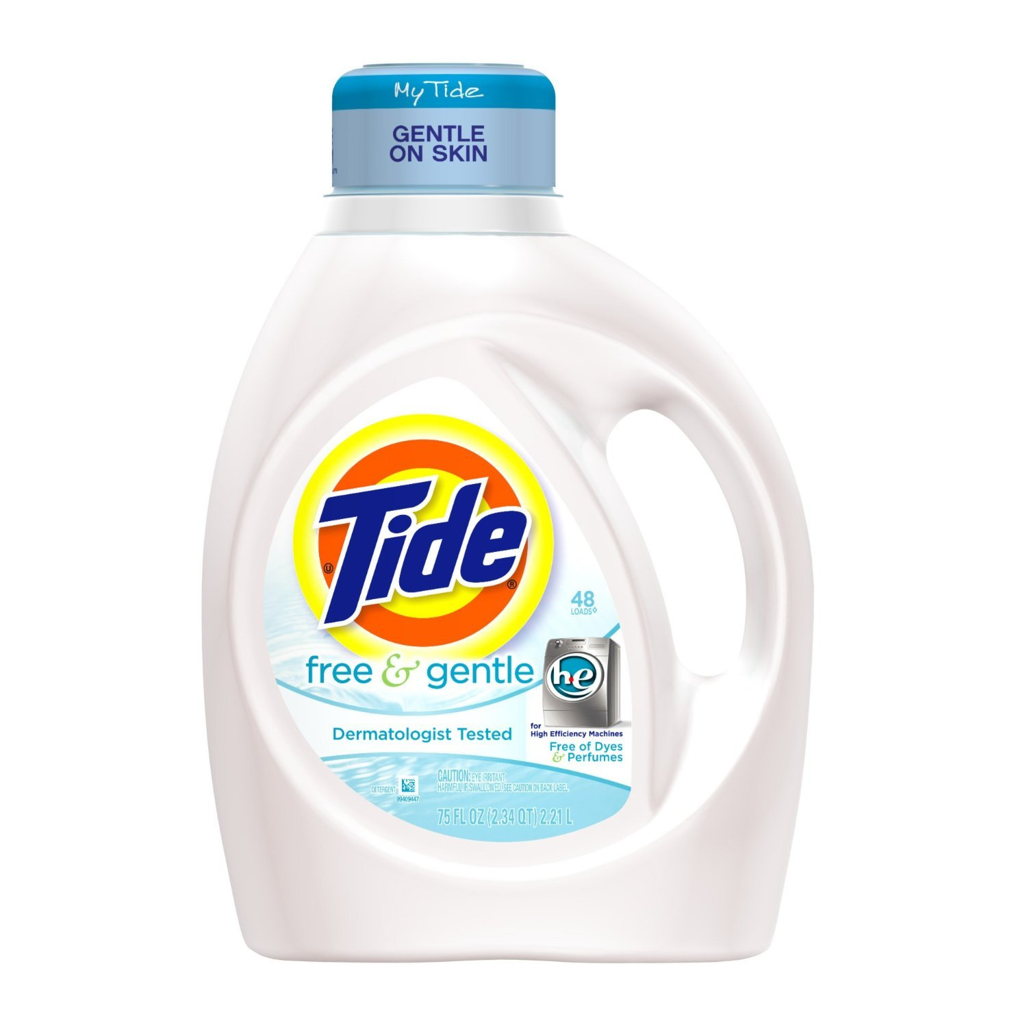 High Efficiency Detergent Brands Tide Free And Gentle High Efficiency Liquid Detergent Amazonco