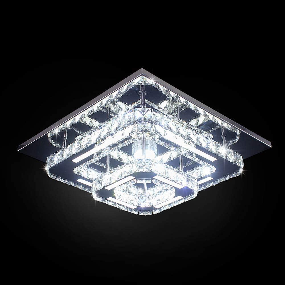 Goeco Deckenleuchte LED - Deckenleuchte Kristall