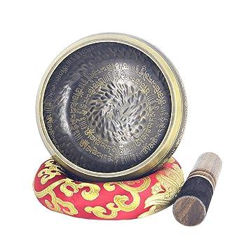 Amazon.com: Práctico cuenco tibetano tibetano para canto de ...