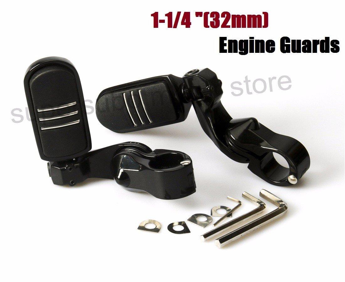 Engine guard footpegs Harley Highway Foot Pegs Motorcycle Honda 32mm 1-1/4'' Black Short Adjustable