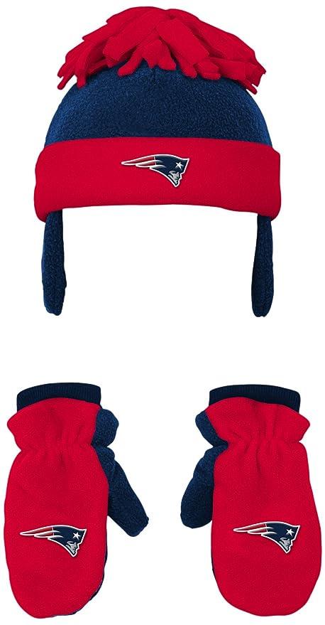 6285bca0366 Outerstuff NFL Toddler 2 Piece Winter Set Fleece Hat and Mittens -Dark  Navy-1