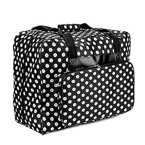 Nähmaschinen Tasche schwarz/weiß gepunktet
