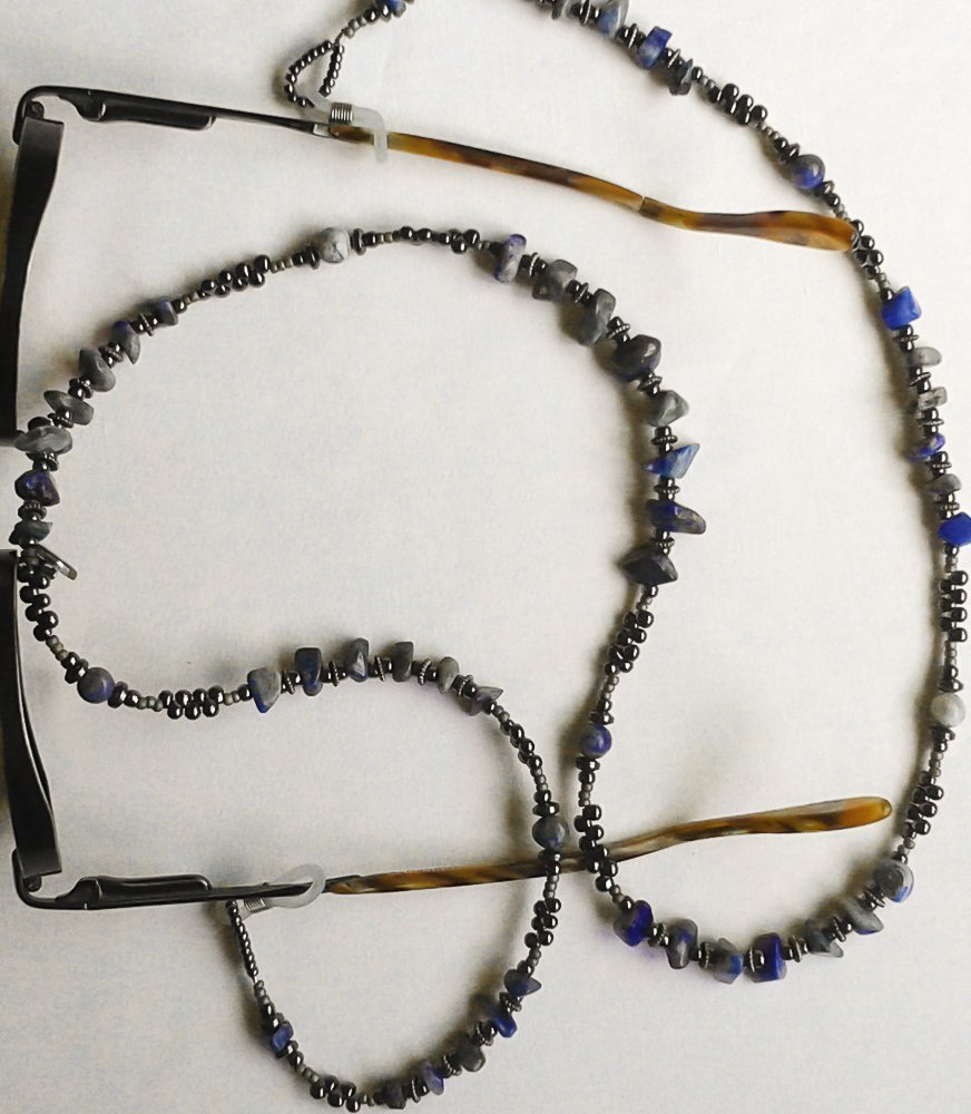 Lapis Lazuli gemstone Eyeglass chain #EY111