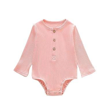 TUDUZ Conjuntos Bebé Niña Manga Larga Sólido Color Camisa Corazón ...