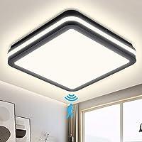 Plafón LED con detector de movimiento, 18W 1800LM, Plafón LED con sensor de…