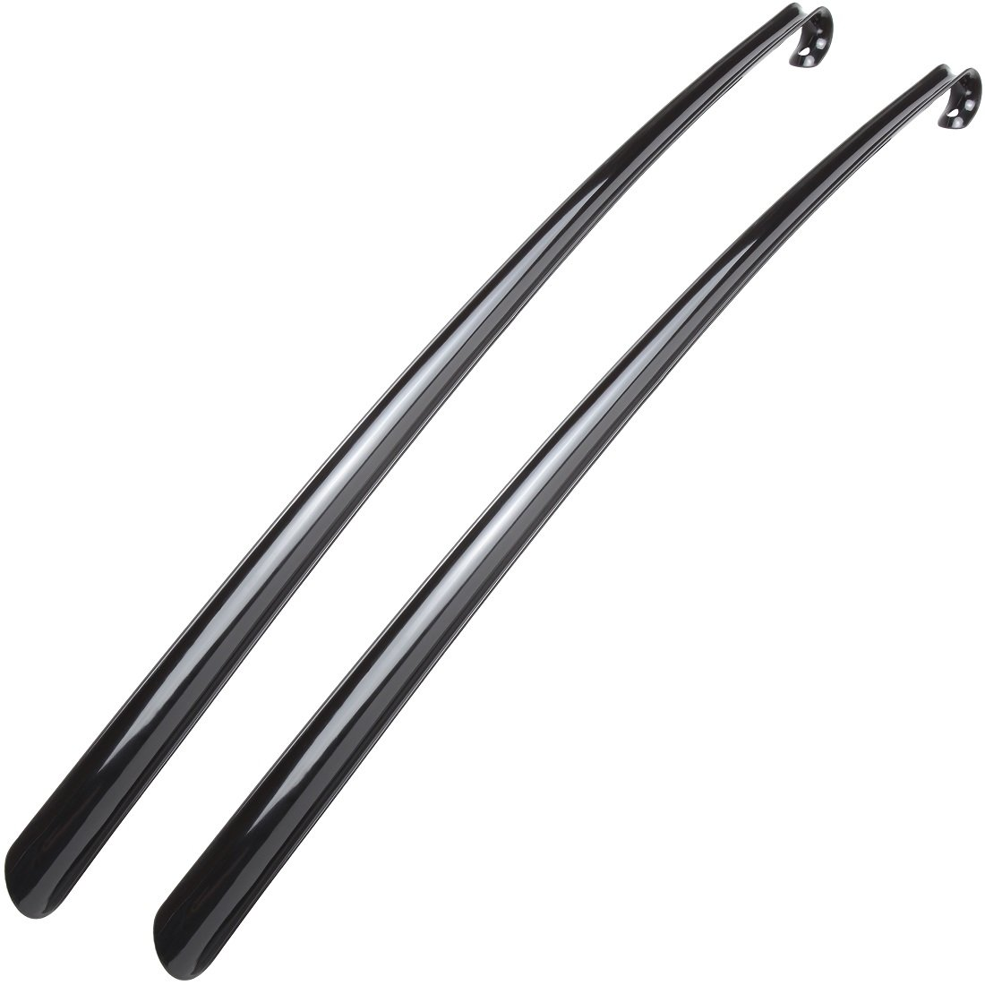Home-X Durable Easy-Grip Long Handled Shoe Horns - Set of 2. 30 Inch Each.