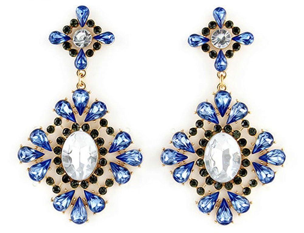 Designer Jewelry Gold Color Graceful Charming Blue AmaranTeen