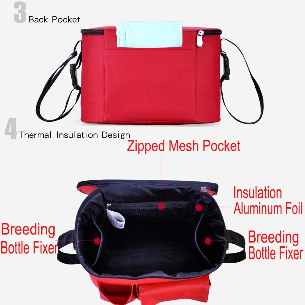 bolsa de almacenamiento universal impermeable para todos los modelos de cochecito azul Bolsa organizadora para cochecito de beb/é