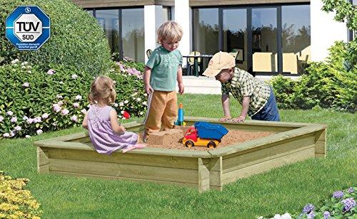 Sandkasten Werner 150 x 150 x 25cm, mit Abdeckung blau (67040+67036), Sandkiste, Buddelkiste, Sandbox, Spielkasten von Gartenwelt Riegelsberger