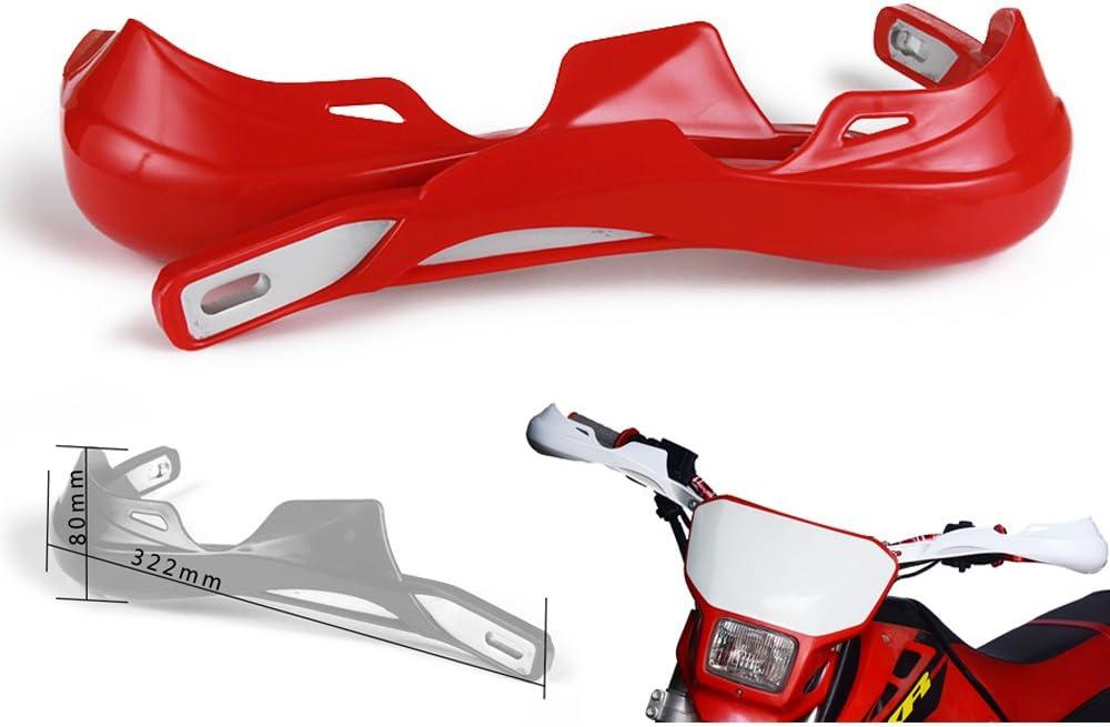 KTM de 22 mm y 28 mm de pl/ástico PP Kawasaki Protectores de Mano para Motocross Yamaha Honda para Todoterreno Suzuki Motocicleta Supermoto y Dirtbike