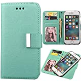 ONLY! iPhone 5SE/5s/5 Case, Aroko 5Se case Premium PU Leather Wallet Cover with Card Slots and Stand Function for Apple iPhone 5SE/5S case,2in1 iPhone5SE Case (5SE/5s/5, Green)
