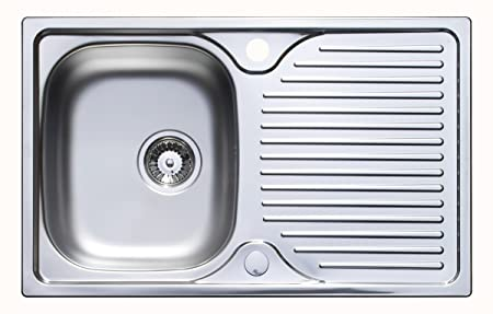 Astracast Parallel 800 x 500mm Stainless Steel Compact Kitchen Sink ...