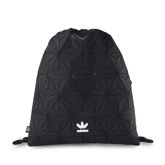 80477c4aad66 adidas Originals 3D Mesh Trefoil Black Diamond Print Gym Sack Bag DH0209   Amazon.co.uk  Clothing