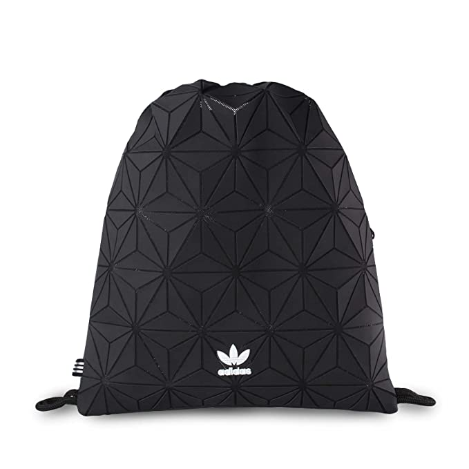 a35a2c465e adidas Originals 3D Mesh Trefoil Black Diamond Print Gym Sack Bag DH0209   Amazon.ca  Clothing   Accessories