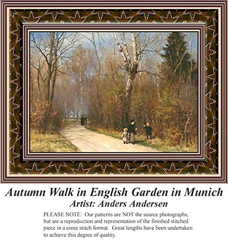 autumn-walk-in-english-garden-in-munich-fine-art-counted-cross-stitch-pattern-pattern-only-you-provi