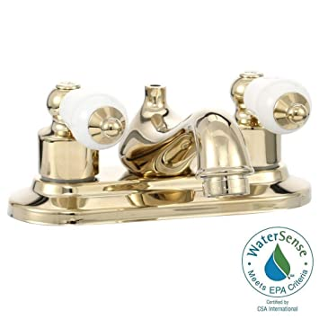 Amazon.com: Glacier Bay Bath Faucet, Polished Brass 102 823: Home ...