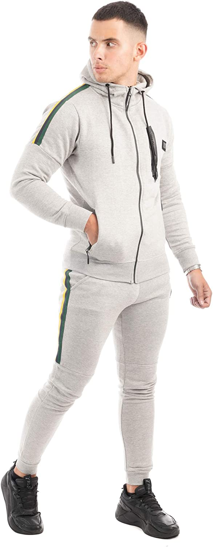 MAX CARTER LONDON Men,s Stretch Fleece Jersey Tracksuit Jogging Suit//Gym Wear Style Zavi