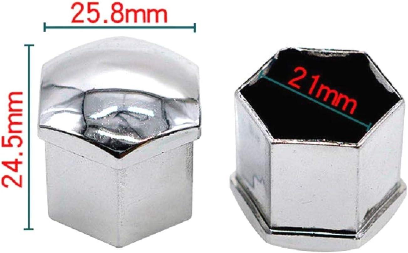 21mm // 19mm // 17mm LNIEGE 20PCS Radmutter Bolzenabdeckungen Radschraubenkappen f/ür irgendwelche Autos
