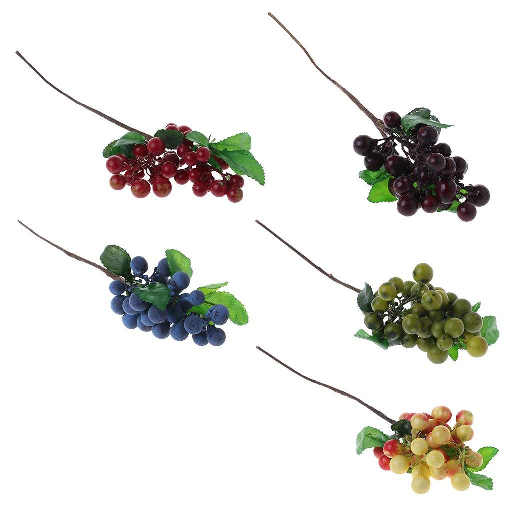 Junlinto,Fruits Bleuet Fausse Bande r/éaliste Artificiel d/écoration Maison Partie Affichage