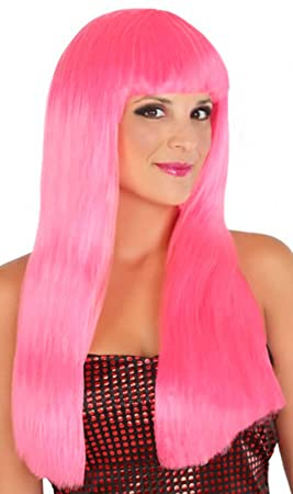 Atosa C/p. peluca lisa larga rosa