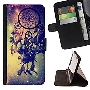 For Samsung Galaxy S6 EDGE (NOT S6) Plus / S6 Edge+ G928 Case , Catcher Azul Espacio Vía Láctea india- la tarjeta de Crédito Slots PU Funda de cuero Monedero caso cubierta de piel