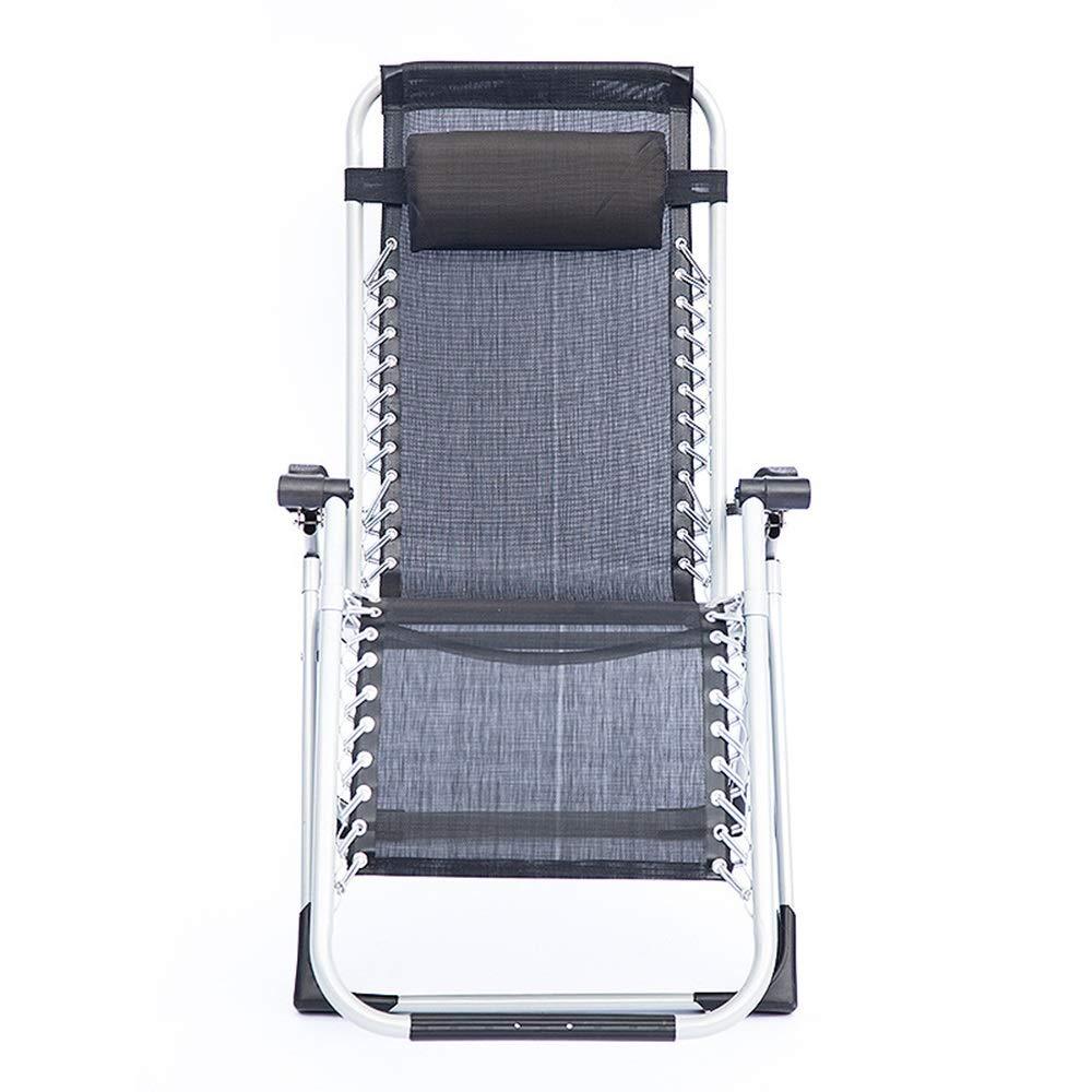 My-JUAN.97 - ラウンジチェア 折りたたみ椅子高級グレード手すり昼休みリクライニングチェア豪華なスクエアチューブラウンジチェアホームビーチチェア - 0123 B07T4KHL51
