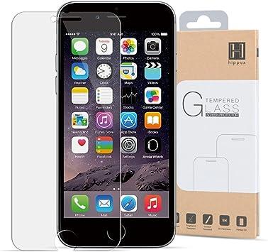 HIPPOX Protector Pantalla iPhone 6s Protector Pantalla iPhone 6 Grosor 0.2mm Protector de Pantalla de Vidrio Templado para iPhone 6 / 6s [Garantía de por Vida] 1 Pack: Amazon.es: Electrónica
