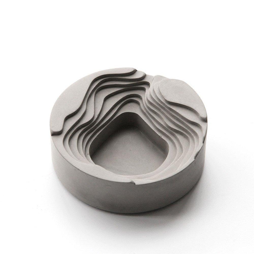 anaan Terrace Cenicero cabeza de Flor de Concreto Hormigon Geométrico Diseño Interior y Exterior Industrial