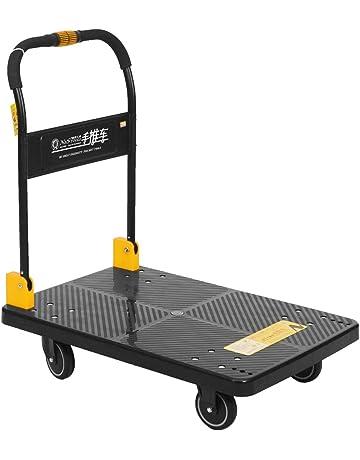 Haobase Carrito de Equipaje de Aluminio Carrito de Mano Plegable de Transporte de 55 kg