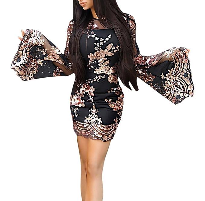 Targogo Mujer Vestidos De Fiesta Cortos Elegantes Brillo Lentejuelas Vestido Ropa Dama Moderno De Noche Fashion