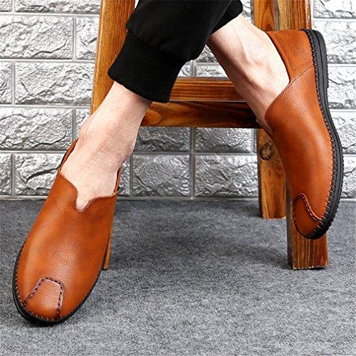 Fannullone B Deodorizzazione 44 Resistenza Da Slip Scarpe YAN On Uomo Urti Scarpe Pelle Smart Degli Casual Ventilazione In Assorbimento Guida All'usura Da H4HzwxR