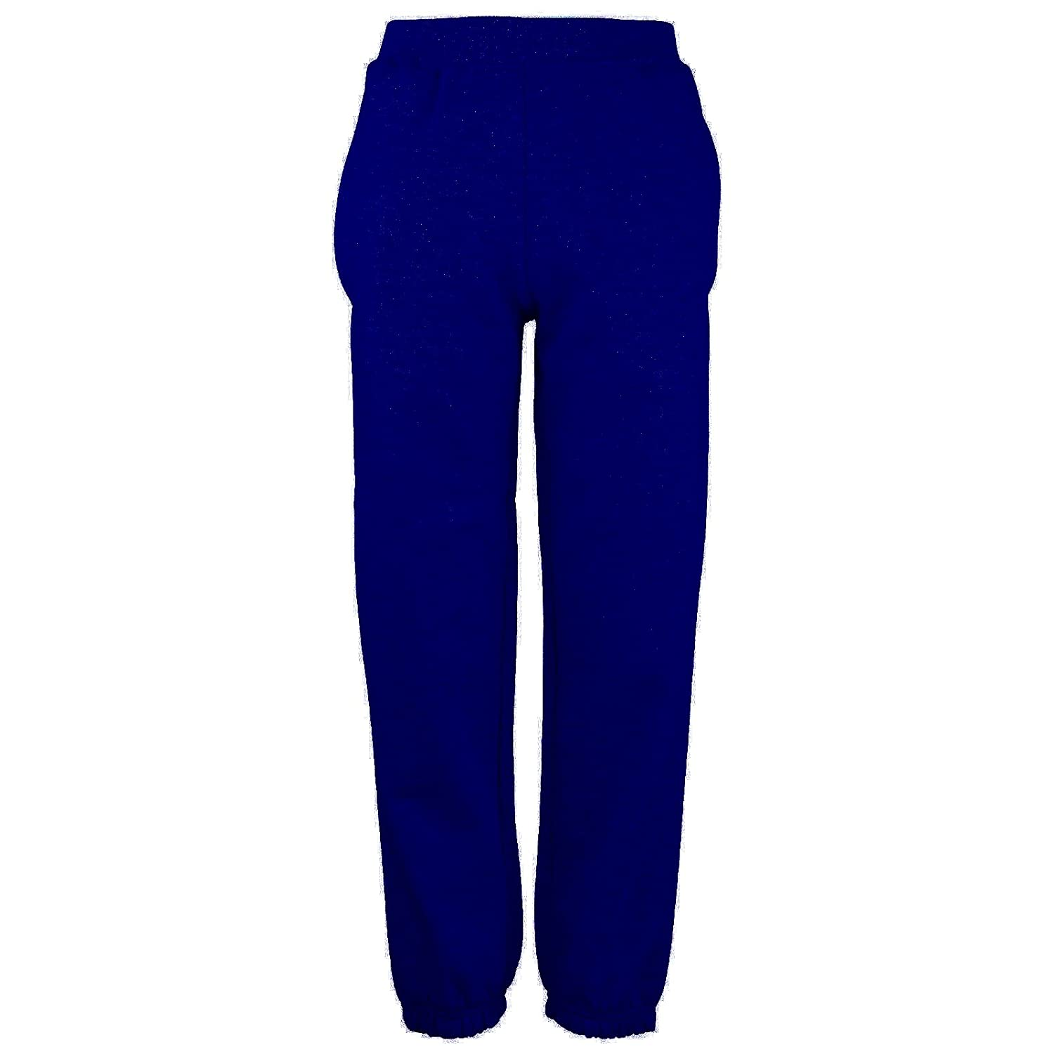 Ages 3-15 Childrens Jogging Bottoms Plain School Uniform Cuffed Elastic Fleece Boys Girls P.E.