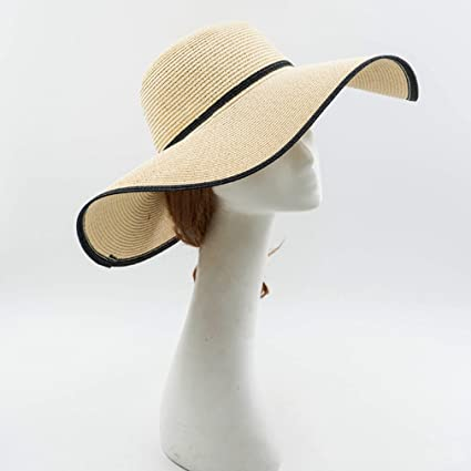 458056d56ad Women s Large Straw Hat Wild Color Matching Sunscreen Sun Hat at Amazon  Women s Clothing store