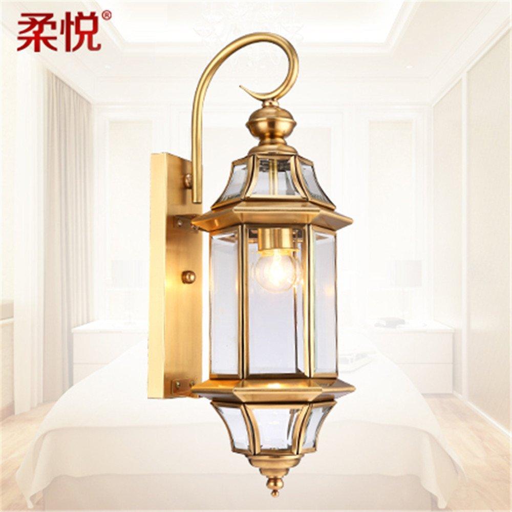 conveniente DengWu lampada lampada lampada da parete Impermeabile esterno muro luce continental-ampio corridoio lampade di bronzo lampada cortile balcone esterno processo (24  56cm) luci da parete  alta qualità