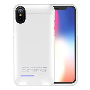 iPhone X Funda Batería, LifeePro Ultra Slim 4000mAh ...