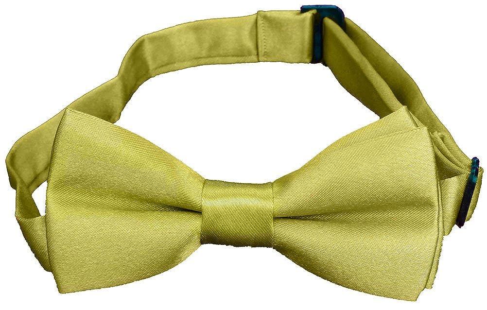 Subtle Addition Boys Bow Tie, Solid Color Adjustable Pre-tied, Kids Black)