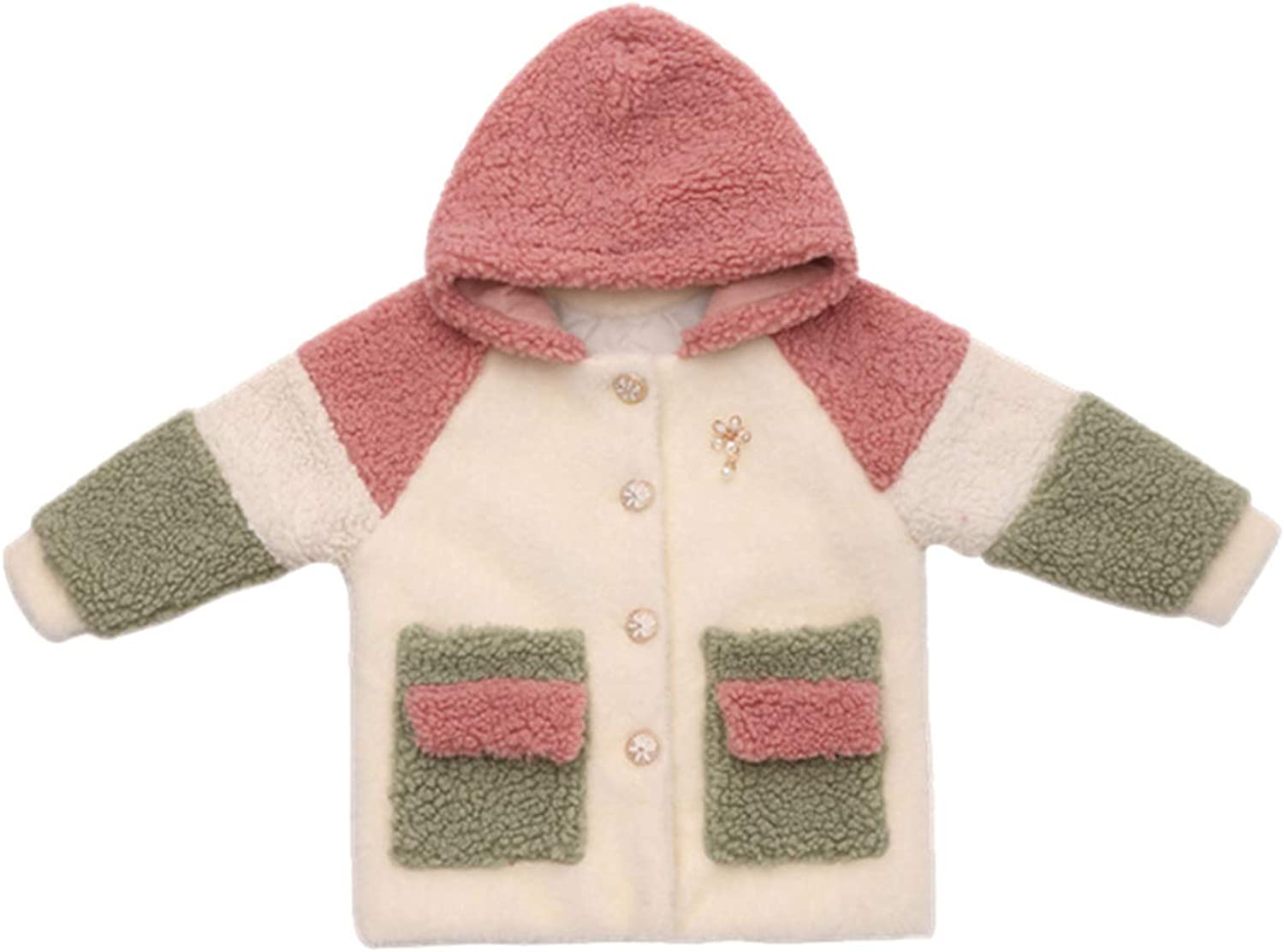 : FAT SHEEP Kids Wool Coat for Girl Winter Girl
