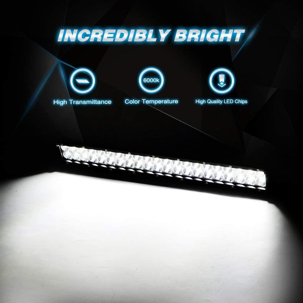 Truck Tractor bull bar 18 Inch 108W LED Work Light Spot Flood Combo Off Road Light Bar Led Fog Light Truck Light Driving Light Boat Light Compatible for Pickup