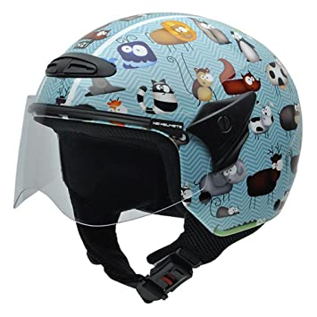 NZI 050269G711 Helix Jr Graphics Animals Casco de Moto, Talla 50-51 (S