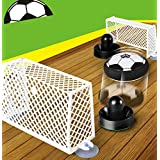 Hover Ball Kids Air Power Soccer Disk Set Pneumatic Suspended Football Toys Set Flashing with Air Cushion 2 Gates for Indoor Outdoor Activities by Hmjunboys (Soccer Gate Set)